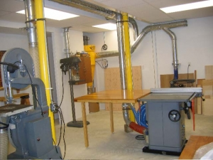 Woodworking Hobby Shop Dust Collection